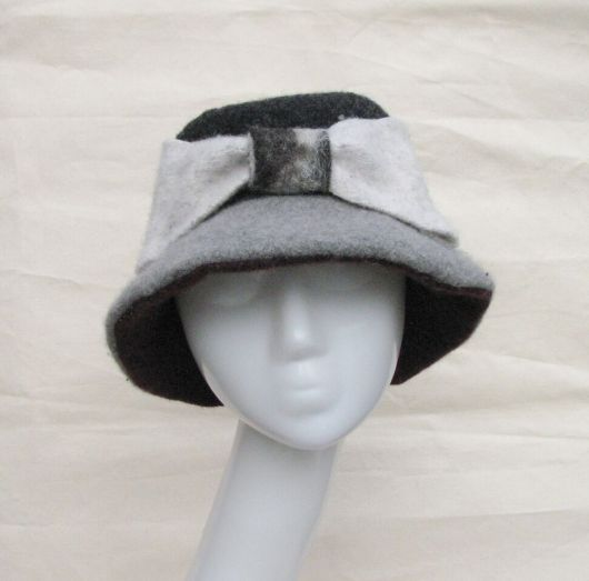 Grey Bow Fedora